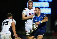 16th November 2020; RDS Arena, Dublin, Leinster, Ireland; Guinness Pro 14 Rugby, Leinster versus Edinburgh; Dave Kearney (Leinster) passes inside of Jack Blain (Edinburgh)