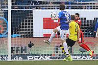 Chance für Peter Niemeyer (SV Darmstadt 98)- 11.02.2017: SV Darmstadt 98 vs. Borussia Dortmund, Johnny Heimes Stadion am Boellenfalltor