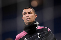 Cristiano Ronaldo of Juventus FC warms up during the Serie A football match between AC Milan and Juventus FC at San Siro Stadium in Milano  (Italy), January 6th, 2021. Photo Federico Tardito / Insidefoto