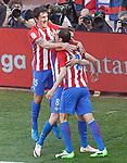 Atletico de Madrid's Stefan Savic, Saul Niguez and Diego Godin celebrate goal during La Liga match. March 19,2017. (ALTERPHOTOS/Acero)