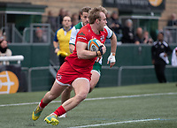 Leroy Van Dam of Jersey Reds during the Championship Cup Quarter final match between Ealing Trailfinders and Jersey Reds at Castle Bar , West Ealing , England  on 22 February 2020. Photo by Alan  Stanford / PRiME Media Images.