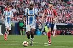 Atletico de Madrid's Victor Machin 'Vitolo' and CD Leganes's Allan Romeo Nyom during La Liga match between Atletico de Madrid and CD Leganes at Wanda Metropolitano stadium in Madrid, Spain. March 09, 2019. (ALTERPHOTOS/A. Perez Meca)