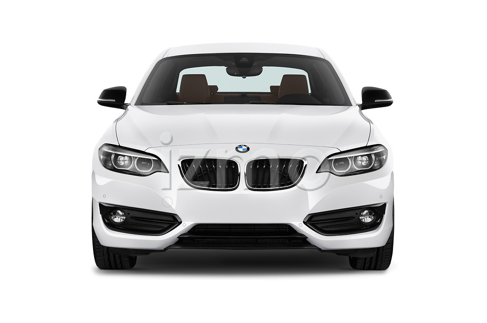 Car photography straight front view of a 2018 BMW 2 Series Sport 2 Door Coupe