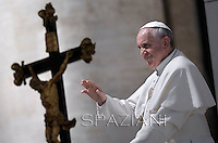 Pope Francis during his weekly general audience in St. Peter square at the Vatican, Wednesday. 17 April 2013