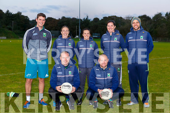 Kerry Ladies managers Declan Quill and Darragh Long with their management team Rory Doyle, Geraldine O'Shea, Cassandra Buckley Anna Maria O'Donoghue,  Gary Kissane