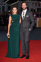 """Armie Hammer and Elizabeth Chambers<br /> at the London Film Festival 2016 premiere of """"Free Fire at the Odeon Leicester Square, London.<br /> <br /> <br /> ©Ash Knotek  D3182  16/10/2016"""