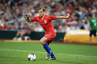 St. Louis, MO - SEPTEMBER 10: Paxton Pomykal #24 of the United States moves with the ball during their game versus Uruguay at Busch Stadium, on September 10, 2019 in St. Louis, MO.