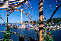 Lund, BC, British Columbia, Canada - Boats docked in Marina along 'Sunshine Coast' - Terminus of Highway 101