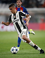 Football Soccer: UEFA Champions UEFA Champions League quarter final first leg Juventus-Barcellona, Juventus stadium, Turin, Italy, April 11, 2017. <br /> Juventus Paulo Dybala in action during the Uefa Champions League football match between Juventus and Barcelona at the Juventus stadium, on April 11 ,2017.<br /> UPDATE IMAGES PRESS/Isabella Bonotto