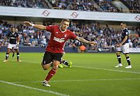 Martyn Waghorn of Ipswich Town celebrates after scoring to make it 1-2 during the Sky Bet Championship match between Millwall and Ipswich Town at The Den, London, England on 15 August 2017. Photo by Alan  Stanford / PRiME Media Images.