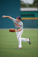 Thomas McMillan (66), from Huntsville, Alabama, while playing for the Indians during the Baseball Factory Pirate City Christmas Camp & Tournament on December 29, 2017 at Pirate City in Bradenton, Florida.  (Mike Janes/Four Seam Images)