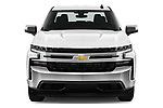 Car photography straight front view of a 2020 Chevrolet Silverado-1500 LT 4 Door Pick-up Front View