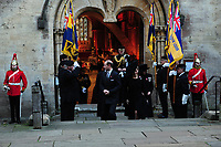 Pictured: Sophie, Countess of Wessex (right) and Prince Edward (left), Earl of Wessex leave Llandaff Cathedral, Cardiff, Wales, UK.  Sunday 11 November 2018<br /> Re: Commemoration for the 100 years since the end of the First World War on Remembrance Day at the Llandaff Cathedral, in Llandaff, Cardiff, Wales, UK.