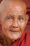 Elder monk, Shwedagon Pagoda, Myanmar