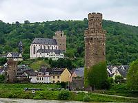 Ochsenturm und St. Martin, Oberwesel, Rheinland-Pfalz, Deutschland, Europa, UNESCO Weltkulturerbe<br /> Ochsenturm and St. Martin, Oberwesel, Rhineland-Palatinate, Germany, Europe