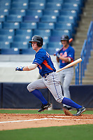 Daniel Cabrera (6) of John Curtis High School in River Ridge, Louisiana playing for the New York Mets scout team during the East Coast Pro Showcase on July 28, 2015 at George M. Steinbrenner Field in Tampa, Florida.  (Mike Janes/Four Seam Images)