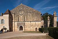 Europe/France/Midi-Pyrénées/32/Gers/Valence-sur-Baïse: Abbaye de Flaran - Facade de l'église romane