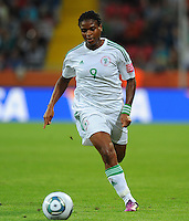 Desire Oparanozie of team Nigeria during the FIFA Women's World Cup at the FIFA Stadium in Dresden, Germany on July 5th, 2011.