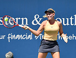 August 15,2019:   Donna Vekic (CRO) loses to Venus Williams (USA) 2-6, 6-3, at the Western & Southern Open being played at Lindner Family Tennis Center in Mason, Ohio.  ©Leslie Billman/Tennisclix/CSM