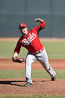 Cincinnati Reds pitcher Ty Sterner (75) during an Instructional League game against the Kansas City Royals on October 16, 2014 at Goodyear Training Complex in Goodyear, Arizona.  (Mike Janes/Four Seam Images)
