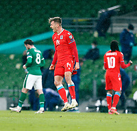 27th March 2021; Aviva Stadium, Dublin, Leinster, Ireland; 2022 World Cup Qualifier, Ireland versus Luxembourg; Maurice Deville (Luxembourg) celebrates their 0-1 win at full time