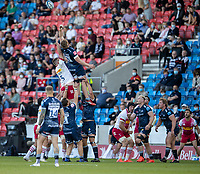 4th June 2021; AJ Bell Stadium, Salford, Lancashire, England; English Premiership Rugby, Sale Sharks versus Harlequins; Dan du Preez of Sale Sharks misses the ball in the lineout