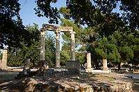 Resti archeologici  Colonne Tempietto a Olimpia Philippeion Patrimonio Unesco