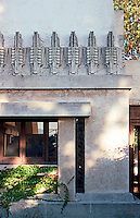F.L. Wright: Barnsdall House--exterior detail.