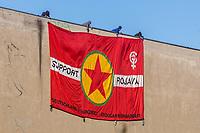 18-05-01 Banner-Aktion für Rojava
