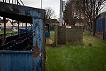 Cammell Laird 1907 P v St. Martins P, 04/01/2021. Kirklands, North West Counties League First Division South. An interior view of the ground pictured after the postponement due to COVID-19 restrictions of the match between Cammell Laird 1907 and St. Martins at Kirklands, Birkenhead. The North West Counties League First Division South fixture was cancelled when north west England entered the UK Government's Tier 3 restrictions the previous day. Cammell Laird 1907 were formed in 2014 as a successor club to one with the same name which has played at Kirklands since the end of World War I and are named after the local shipyard which originally supported the club. Photo by Colin McPherson.