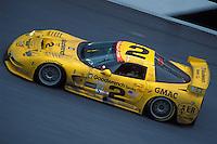 #2 Race winning Chevrolet Corvette of Johnny O'Connell, Franck Freon, Chris Kneifel & Ron Fellows, 2001 Rolex 24 at Daytona, Daytona International Speedway, Daytona Beach, Florida USA Feb. 2001