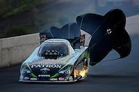 Jul, 20, 2012; Morrison, CO, USA: NHRA funny car driver Alexis DeJoria during qualifying for the Mile High Nationals at Bandimere Speedway. Mandatory Credit: Mark J. Rebilas-US PRESSWIRE