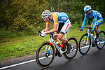 Race leader Mathieu Van Der Poel (BEL) Corendon-Circus in action during Stage 2 of the 2018 Artic Race of Norway, running 195km from Tana to Kjøllefjord, Norway. 17th August 2018. <br /> <br /> Picture: ASO/Rune Dahl | Cyclefile<br /> All photos usage must carry mandatory copyright credit (© Cyclefile | ASO/Rune Dahl)