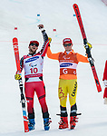 Mac Marcoux, PyeongChang 2018 - Para Alpine Skiing // Ski para-alpin.<br /> Mac Marcoux and guide Jack Leitch ski to the bronze in the giant slalom // Mac Marcoux and guide Jack Leitch ski pour le bronze dans le slalom géant. 14/03/2018.