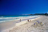 Kapalama Beach Park in Kailua offers beautiful white sands and warm blue waters.  Located south of Kailua Beach Park.  Windward oahu.