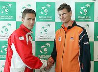 03-03-2005,Swiss,Freibourgh, Davis Cup , Swiss-Netherlands, draw fot the first round Schalken against Chiudinelli