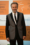 Tristan Ulloa poses for the photographers during 2015 Theater Ceres Awards photocall at Merida, Spain, August 27, 2015. <br /> (ALTERPHOTOS/BorjaB.Hojas)