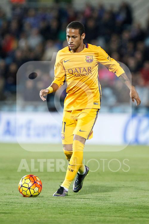 Barcelona´s Neymar Jr during 2015-16 La Liga match between Getafe and Barcelona FC at Coliseum Alfonso Perez stadium in Madrid, Spain. October 31, 2015. (ALTERPHOTOS/Victor Blanco)