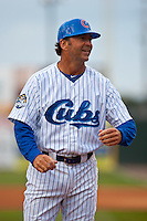 Daytona Cubs manager Brian Harper before the home opener against the Brevard County Manatees at Jackie Robinson Ballpark on April 6, 2012 in Daytona Beach, Florida. (Scott Jontes / Four Seam Images)