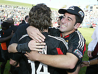 14 November 2004: Alecko Eskandarian celebrates with Ben Olsen after DC United defeated Kansas City Wizards, 3-2 at Home Depot Center in Carson, California...Mandatory Credit: Michael Pimentel / www.internationalsportsimages.com..