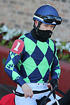 January 22, 2021: Jockey David Cohen before the fifth race at Oaklawn Racing Casino Resort in Hot Springs, Arkansas on January 22, 2021. Justin Manning/Eclipse Sportswire/CSM