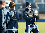 St Johnstone Training…08.12.17<br />David Wotherspoon celebrates victory in a sprint competition at McDiarmid Park today during training ahead of tomorrow's game at Hamilton<br />Picture by Graeme Hart.<br />Copyright Perthshire Picture Agency<br />Tel: 01738 623350  Mobile: 07990 594431