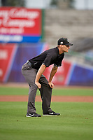 Umpire Justin Whiddon during a Florida State League game between the Lakeland Flying Tigers and Clearwater Threshers on May 14, 2019 at Spectrum Field in Clearwater, Florida.  Clearwater defeated Lakeland 6-3.  (Mike Janes/Four Seam Images)