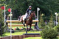 "4th September 2021; Bicton Park, East Budleigh Salterton, Budleigh Salterton, United Kingdom: Bicton CCI 5* Equestrian Event; Georgina ""Piggy"" March riding Vanir Kamira at The Ariat Challenge"