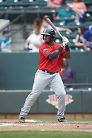 Jerry Downs (30) of the Salem Red Sox at bat against the Winston-Salem Dash at BB&T Ballpark on April 22, 2018 in Winston-Salem, North Carolina.  The Red Sox defeated the Dash 6-4 in 10 innings.  (Brian Westerholt/Four Seam Images)