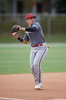 Max Viera (54) during the WWBA World Championship at the Roger Dean Complex on October 12, 2019 in Jupiter, Florida.  Max Viera attends Rabun Gap Nacoochee High School in Greenwood Lake, NY and is committed to Northeastern.  (Mike Janes/Four Seam Images)