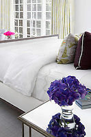 classic bed with pillows