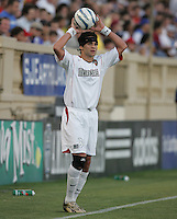 23 July 2005:  Ryan Suarez of the MetroStars in action against the Earthquakes at Spartan Stadium in San Jose, California.  Earthquakes defeated MetroStars, 2-1.  Credit: Michael Pimentel / ISI