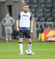 20th April 2021; Liberty Stadium, Swansea, Glamorgan, Wales; English Football League Championship Football, Swansea City versus Queens Park Rangers; Matt Grimes of Swansea City during the warm up