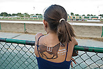 24 Jul 10: A young Rachel Alexandra fan at the rail in anticipation of the race.